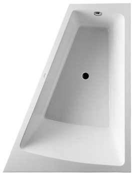 Duravit Paiova 1800 x 1400mm Right Backrest Slope Bath With Panel And Frame