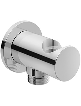 Duravit Wall Shower Hose Outlet With Handset Holder And Round Escutcheon