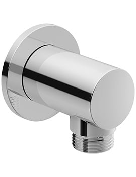 Duravit Wall Mounted Shower Hose Outlet With Round Escutcheon