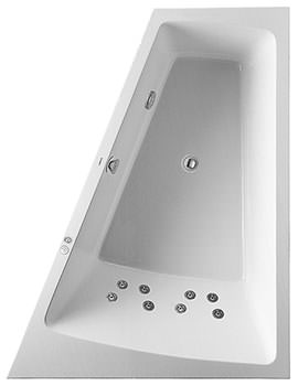Duravit Paiova 1700 x 1300mm Built In Right Slope Bath With Jet System