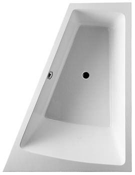 Duravit Paiova 1800 x 1400mm Built In Bath With Frame And Right Slope