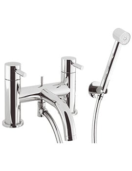 Crosswater Design Deck Mounted Bath Shower Mixer Tap With Kit