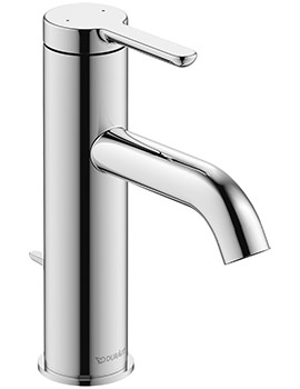 Duravit C.1 Single Lever 175mm High Basin Mixer Tap With Pop-Up Waste