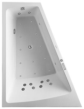 Duravit Paiova 1800 x 1400mm Backrest Slope Left Bath With Panel And Combi System E