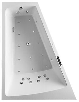 Duravit Paiova 1800 x 1400mm Backrest Slope Left Bath With Panel And Combi System L