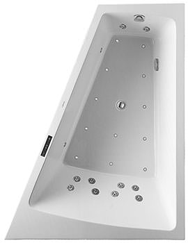 Duravit Paiova 1700 x 1300mm Backrest Slope Right Bath With Panel And Combi System L
