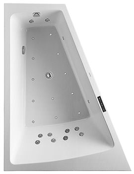 Duravit Paiova 1700 x 1300mm Backrest Slope Left Bath With Panel And Combi System L
