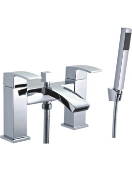 Mayfair Colorado Chrome Bath Shower Mixer Tap With Shower Kit