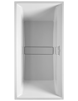 Duravit 2nd Floor Built-In 2000 x 1000mm Bath With Support Feet
