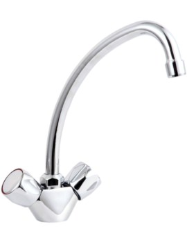 Mayfair Beta Kitchen Mixer Mono Tap Chrome With Swivel Spout