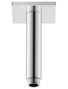 Duravit 125mm Ceiling Mounted Shower Arm With Square Escutcheon