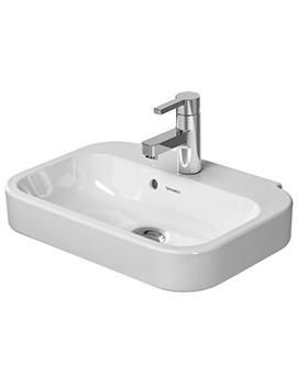 Duravit Happy D2 500 x 360mm 1 Tap Hole Handrise Basin