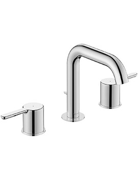 Duravit C.1 3-Hole Basin Mixer Tap With Pop-Up Waste - 140mm Projection