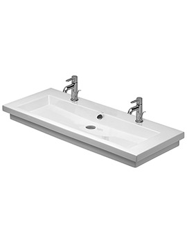 Duravit 2nd Floor 1200 x 505mm 2 Tap Holes Washbasin