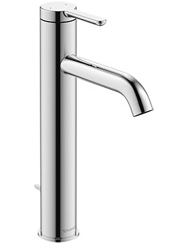 Duravit C.1 Single Lever 262mm High Basin Mixer Tap With Pop-Up Waste