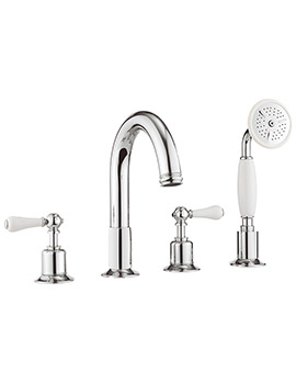 Crosswater Belgravia Lever Chrome 4 Hole Bath Shower Mixer Tap With Kit