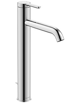 Duravit C.1 Single Lever 322mm High Basin Mixer Tap With Pop-Up Waste