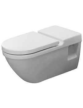 Duravit Starck 3 360 x 700mm Wall Mounted Toilet With Seat And Cover