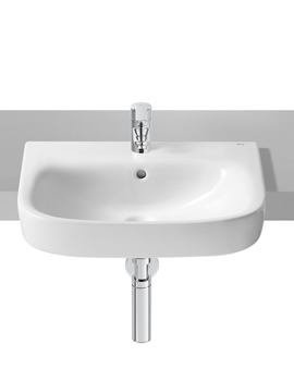 Roca Debba 520 x 400mm Semi-Recessed Basin With 1 Tap Hole
