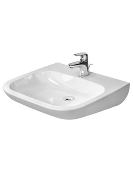 Duravit D-Code 600 x 555mm Washbasin Med Without Overflow