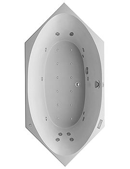 Duravit 2x3 Hexagonal 1900 x 900mm Bathtub With Combi-System E