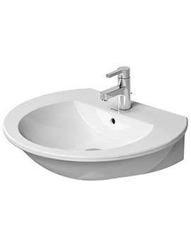 Duravit Darling New 650mm 1 Taphole Washbasin With Overflow