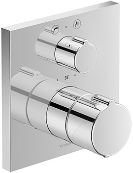 Duravit C.1 Square Concealed Thermostatic Bath Mixer Valve With Diverter