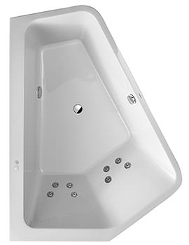 Duravit Paiova 1900mm 5 Corner Left Bath With Panel And Jet System