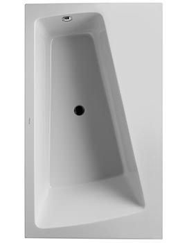 Duravit Paiova 1700mm Monolith Corner Right Bath With Frame And Panel