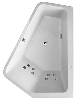 Duravit Paiova 1900mm 5 Corner Right Built In Bath With Jet System