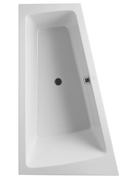 Duravit Paiova 1700 x 1000mm Built In Bath With Frame And Left Slope