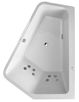 Duravit Paiova 1900mm 5 Corner Right Bath With Panel And Jet System