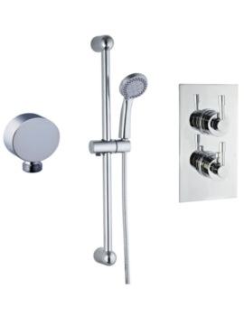 Mayfair Amazon Concealed Thermostatic Shower Valve And Slide Rail Kit