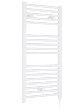 Nuie Premier Electric Straight 480 x 920mm Bathroom Heater White