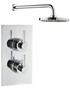 Mayfair Amazon Dual Handle Thermostatic Valve With Shower Arm and Head