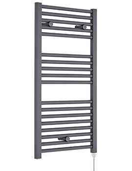 Premier Straight Electric Towel Rail 480 x 920mm Anthracite