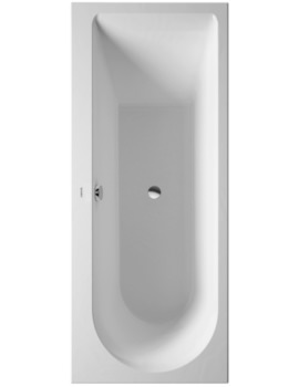 Duravit Darling New 1700 x 700mm Bath With Feet - One Left Backrest Slope