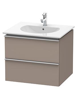 Duravit Darling New 600 x 520mm Basalt Matt Vanity Unit With Basin