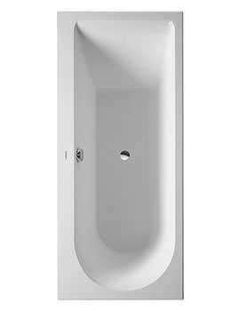 Duravit Darling New 1600 x 700mm Bath With Feet - One Left Backrest Slope
