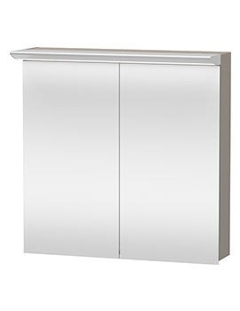 Duravit Darling New 800 x 800mm 2 Door Mirror Cabinet - Terra