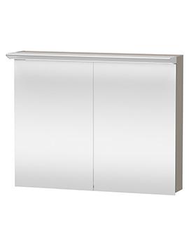 Duravit Darling New 1000 x 800mm 2 Door Mirror Cabinet - Terra