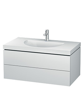 Duravit L-Cube 1000mm Double Drawer Vanity Unit With C-Bonded Washbasin