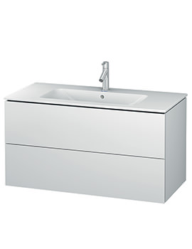 Duravit L-Cube 1020mm 2 Drawers Vanity Unit With Me By Starck Basin