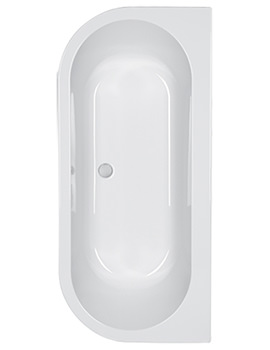 Carron Halcyon D 1750 x 800mm 5mm Acrylic Double Ended Bath
