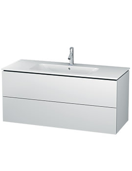 Duravit L-Cube 1220mm 2 Drawers Vanity Unit With Me By Starck Basin