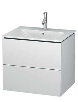 Duravit L-Cube 620mm 2 Drawers Vanity Unit With Me By Starck Basin