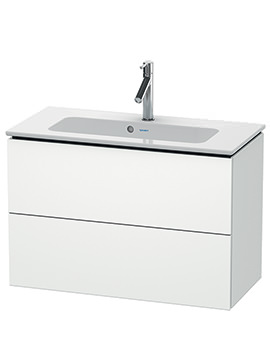 Duravit L-Cube 820mm Compact 2 Drawers Vanity Unit With Me By Starck Basin