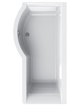 Carron Urban 1500 x 750-900mm 5mm Acrylic Left Hand Shower Bath