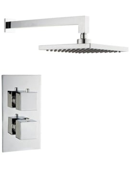Mayfair Kubo Concealed Thermostatic Valve With Shower Head And Arm