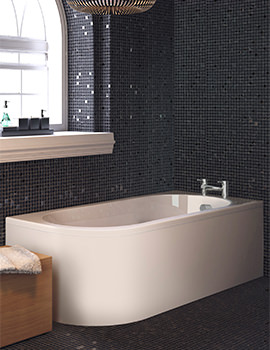 Lauren Crescent 1700 x 725mm Back-To-Wall Right Handed Bath With Panel